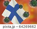 世界中の国々に広がるコロナウイルスのイメージ画像 64269662