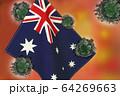 世界中の国々に広がるコロナウイルスのイメージ画像 64269663