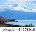 ニュージーランド-プカキ湖・マウントクックの風景 64278919