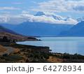 ニュージーランド-プカキ湖・マウントクックの風景 64278934