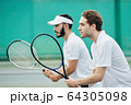 Tennis players ready to play 64305098