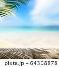 背景-夏-海-ビーチ-風景-イメージ 64308878