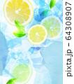 背景-レモン-ソーダ 64308907