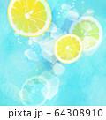 背景-レモン-ソーダ 64308910