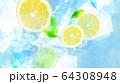 背景-レモン-ソーダ 64308948