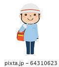 男性の救急救命士のイラスト。 64310623