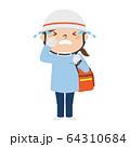 泣いてる女性の救急救命士のイラスト。 64310684