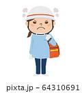 怒ってる女性の救急救命士のイラスト。 64310691