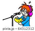 オカリナの録音をする人 64312312