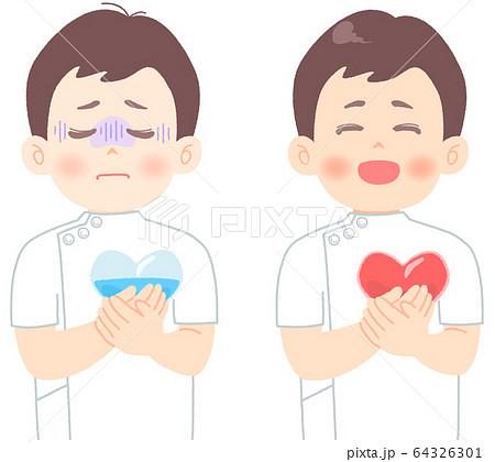 メンタルヘルス についてのイラスト (タッチ やわらかめ) 看護師 医者 臨床検査技師 医療崩壊 64326301