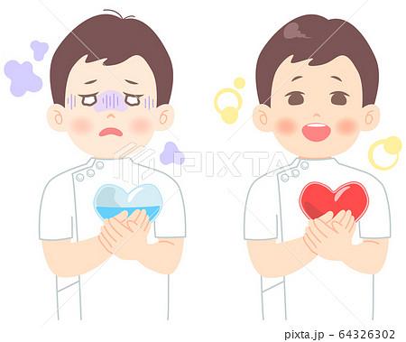 メンタルヘルス についてのイラスト (タッチ シャープめ)  医者 看護師 臨床検査技師 医療崩壊 64326302