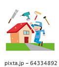 住宅 リフォーム リノベーション 作業員 64334892