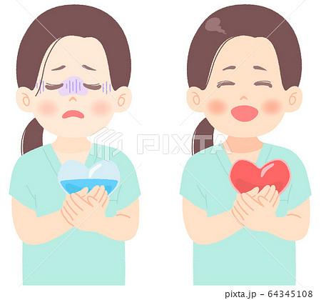 メンタルヘルス についてのイラスト (タッチ やわらかめ) 医者 看護師 臨床検査技師 医療崩壊 64345108