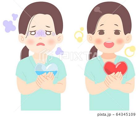 メンタルヘルス についてのイラスト (タッチ シャープめ) 医者 看護師 臨床検査技師 医療崩壊 64345109