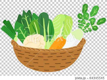 Basket of winter vegetables 64345545