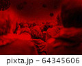 Covid-19 viruses above Large crowd of people 64345606