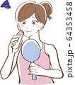 口ひげをシェイバーで剃る女性 イラスト 64353458