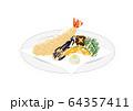 天ぷらイラスト 64357411