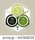 Vector circle infographic. Template for diagram, graph, presentation and chart. Business concept with three options, parts, steps or processes. Abstract background 64368638
