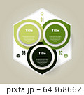 Vector circle infographic. Template for diagram, graph, presentation and chart. Business concept with three options, parts, steps or processes. Abstract background 64368662