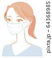 マスクする女性 64368985