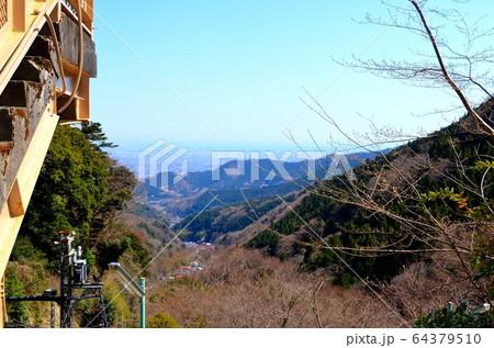 大山ケーブルカー・大山寺駅からの眺望 64379510