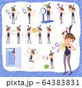 flat type bunny suit women_complex 64383831
