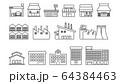 ラインアイコン 店舗・工場・施設 64384463
