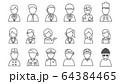 ラインアイコン 職業・人物 64384465