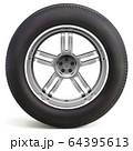 Vector Car Wheel with Rim 64395613