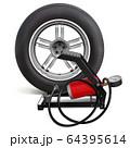 Vector Car Wheel with Pump 64395614