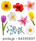 Vector Flower Icons Set 3 64395697