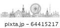 Moscow skyline line art 2 64415217