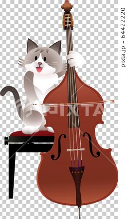 貓和低音提琴 64422220