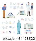 医療現場の人々 医師 看護師 アイコン イラスト 64423522