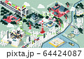 isometric graphic design vector illustration of Tokyo famous place map for travel 64424087