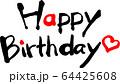 Happy Birthday 筆文字 64425608