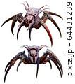 Arachnid horror creature 3D illustration 64431239