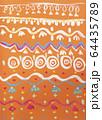 Children pattern aqua paint paintings shot 64435789