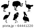 動物シルエット_セット2 64441220