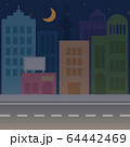 月明かりと夜の街 64442469