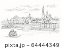 Vector hand drawing Moscow-3 64444349