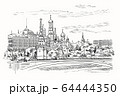 Vector hand drawing Moscow-1 64444350