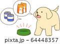 ゴールデンレトリバーの子犬(お腹が空いた) 64448357