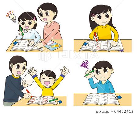 勉強する小学生 64452413