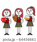 食べ物を持つ女子たち セット 64456661