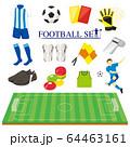 サッカーイラストレーションセット 64463161