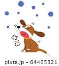 咳をする病気のペット 64465321