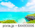 美しい宮古島の海 アニメ風 64493006