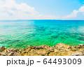 美しい宮古島の海 アニメ風 64493009